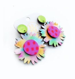 Audra Style Daisy Earrings - Cotton Candy