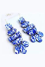 Audra Style Belle Earrings - Blue White