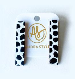 Audra Style Beatrice Earrings - Black Dot