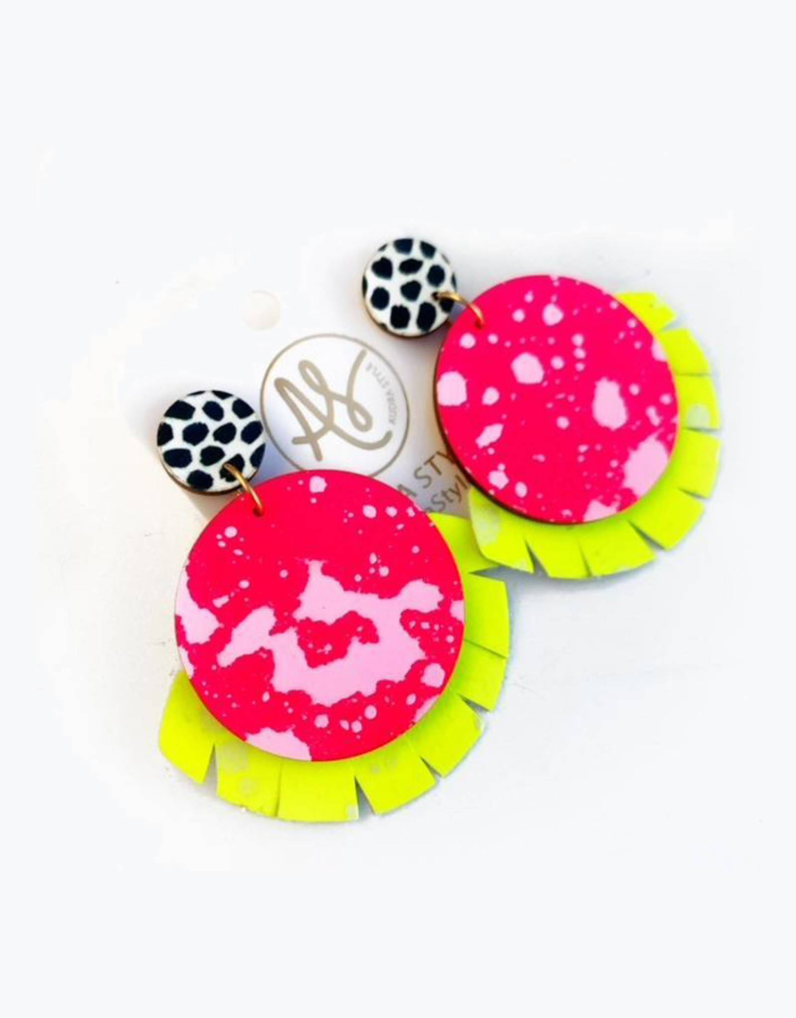 Audra Style Alex Earrings - Neon Pink