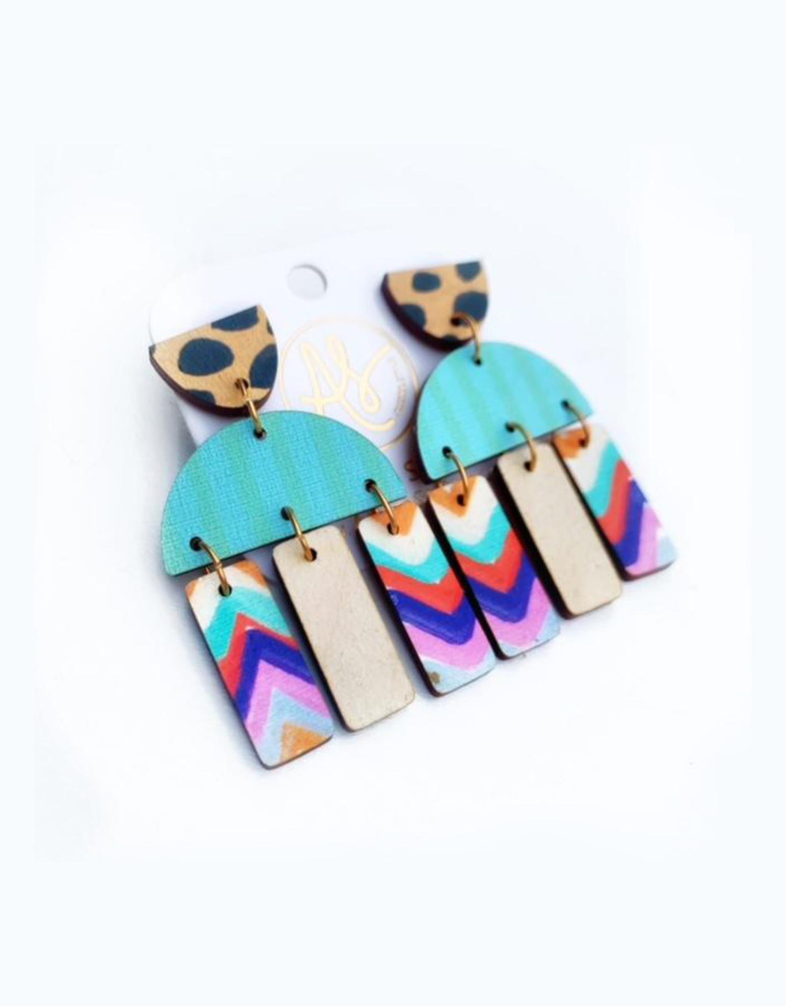 Audra Style Agatha Earrings - Mint Stripe