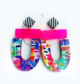 Audra Style Abby Earrings - Abstract