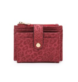 Jen & Co Cheetah Multi Compartment Wallet - Red