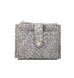 Jen & Co Cheetah Multi Compartment Wallet - Dark Silver