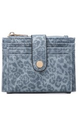 Jen & Co Cheetah Multi Compartment Wallet - Cadet Blue