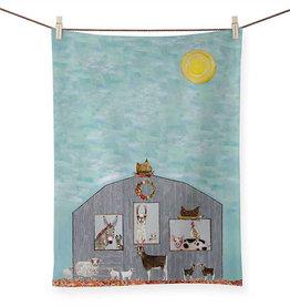 Greenbox Art Barn Party Tea Towel