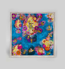 Greenbox Art Honeycomb Azure Mini Framed Canvas