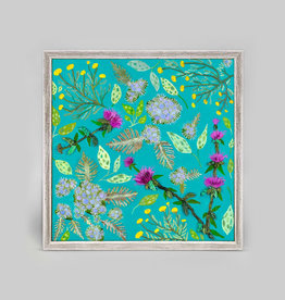 Greenbox Art Santolina, Mist Flower & Bee Balm Mini Framed Canvas