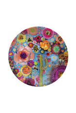 Greenbox Art Blooms on Cerulean Blue Decorative Dish
