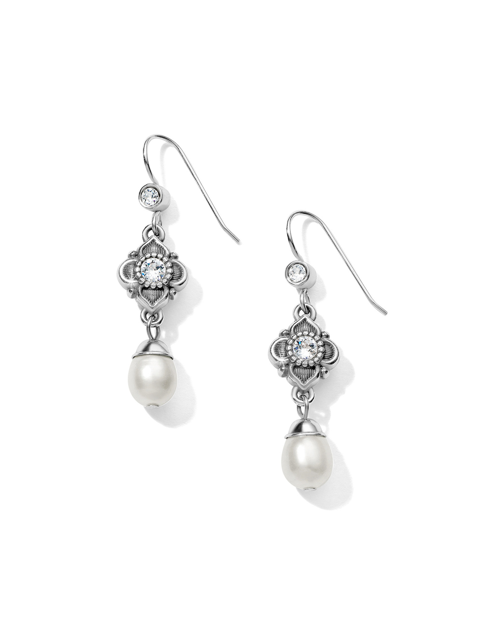 Brighton Alcazar Margaret French Wire Drop Earrings - Silver & Pearl