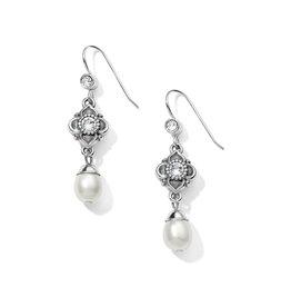 Brighton Alcazar Margaret French Wire Drop Earrings - Silver & Pearl