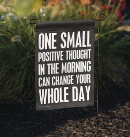 Small Positive Thought Garden Flag