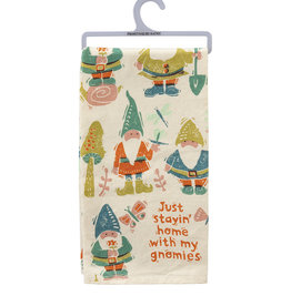 Home With My Gnomies Dish Towel