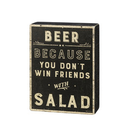 Beer Because Box Sign