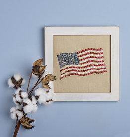 Flag Waving Stitchery
