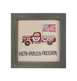 Faith Family Freedom Stitchery