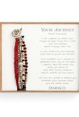 Beaded Love Bracelet - Garnet