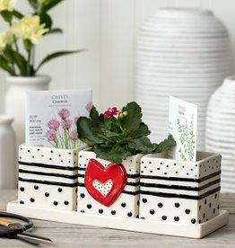 Red Heart Herb Planter Set