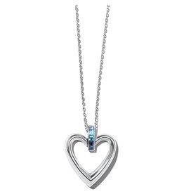 Brighton Spectrum Open Heart Blue Necklace