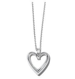 Brighton Spectrum Open Heart Clear Necklace