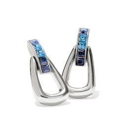 Brighton Spectrum Loop Blue Post Drop Earrings
