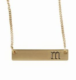 Mudpie Initial Bar Necklace