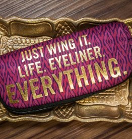"""Just Wing It"" Zipper Pouch"