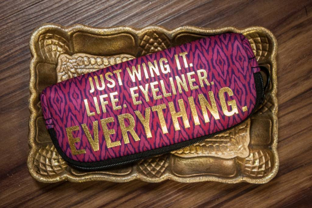 Quot Just Wing It Quot Zipper Pouch The Busy B