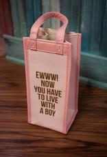 8 Oak Lane Pink Canvas Wine Bag
