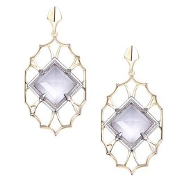 Natalie Wood Designs Runaway Romantic Statement Earrings - Clear Quartz