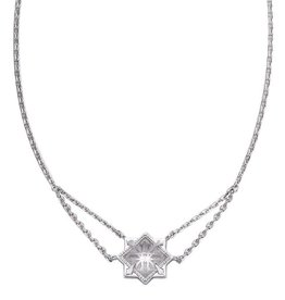 Natalie Wood Designs Runaway Romantic Necklace Silver - Clear Quartz