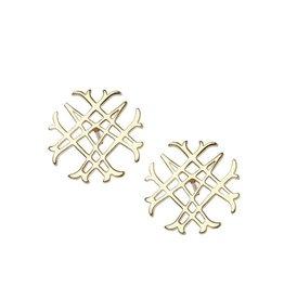 Natalie Wood Designs Logo Stud Earrings - Gold