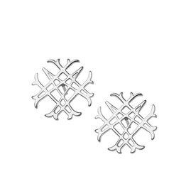Natalie Wood Designs Logo Stud Earrings - Silver