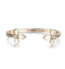 Natalie Wood Designs Believer Cross Cuff Bracelet - Gold
