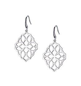 Natalie Wood Designs Believer Small Cross Earrings - Silver
