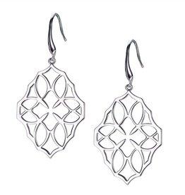 Natalie Wood Designs Believer Large Cross Earrings - Silver