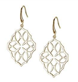 Natalie Wood Designs Believer Large Cross Earrings - Gold