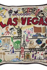 Hand Embroidered Las Vegas Pillow