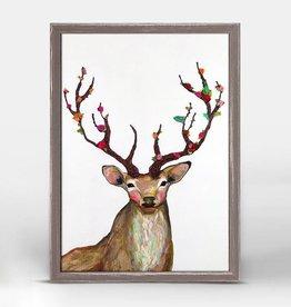 Rosy Buck Framed Canvas