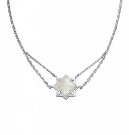 Natalie Wood Designs Runaway Romantic Necklace - Silver River Pearl