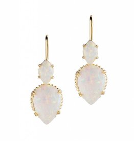 Natalie Wood Designs Double Teardrop Earrings - Opal