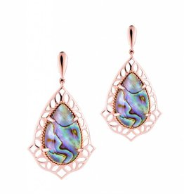 Natalie Wood Designs Showstopper Drop Earrings - Abalone Shell