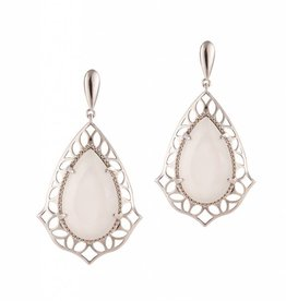 Natalie Wood Designs Showstopper Drop Earrings - Silver River Pearl