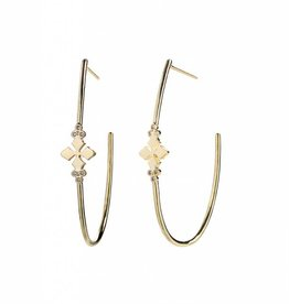 Natalie Wood Designs Believer Hoop Earrings - Gold