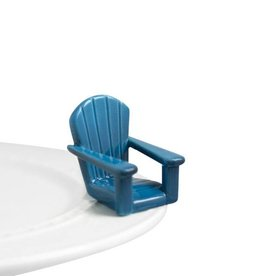 nora fleming Blue Adirondack Chair Mini