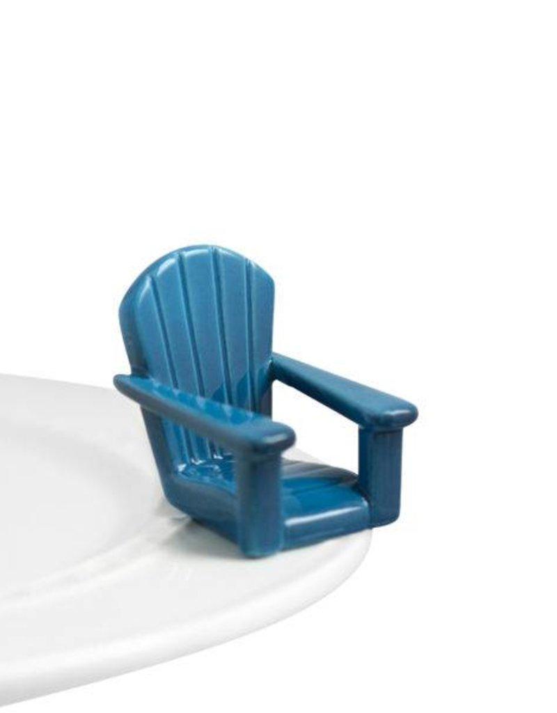 Nora Fleming Blue Adirondack Chair Mini A67
