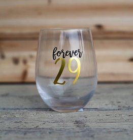 Mudpie Forever 29 Wine Glass