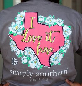 simply southern Love It Here Texas Tee - Adult