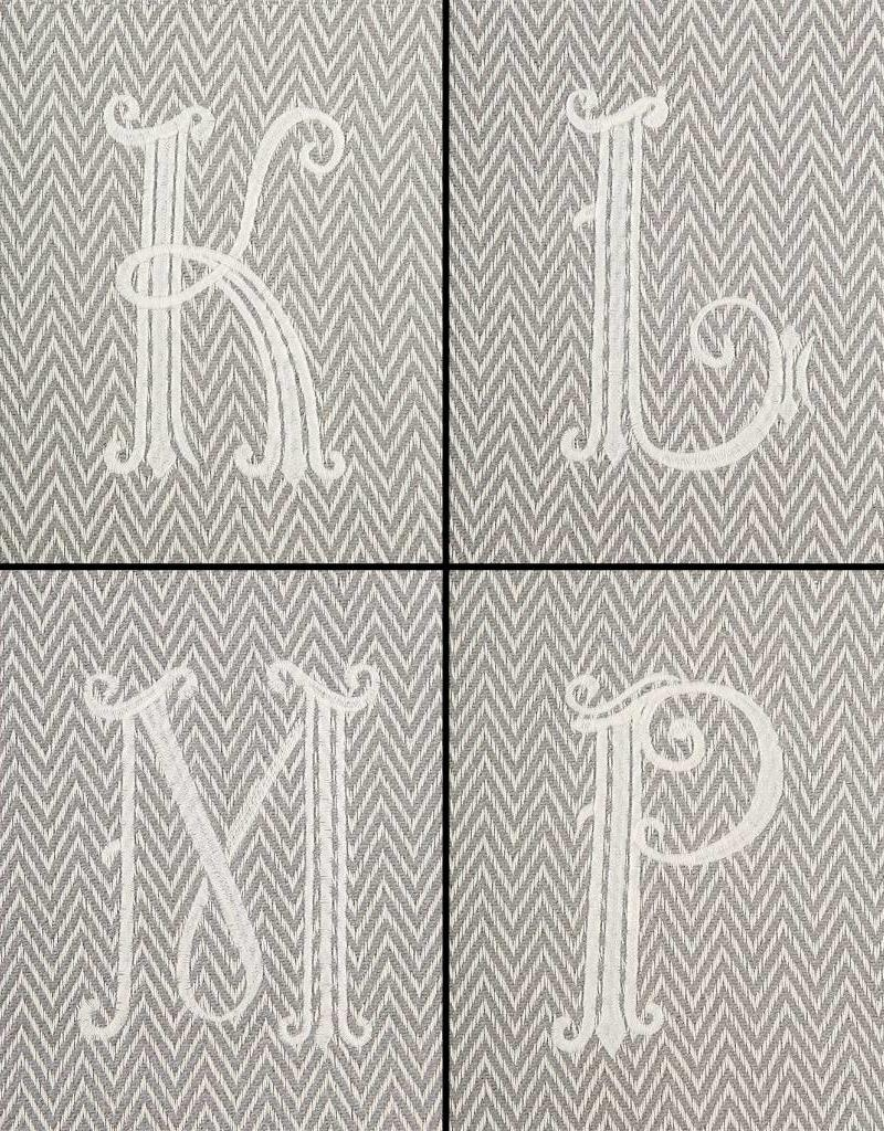 Mudpie Initial Throw Blanket