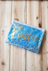 slant collection Fiancée Confetti Cosmetic Bag